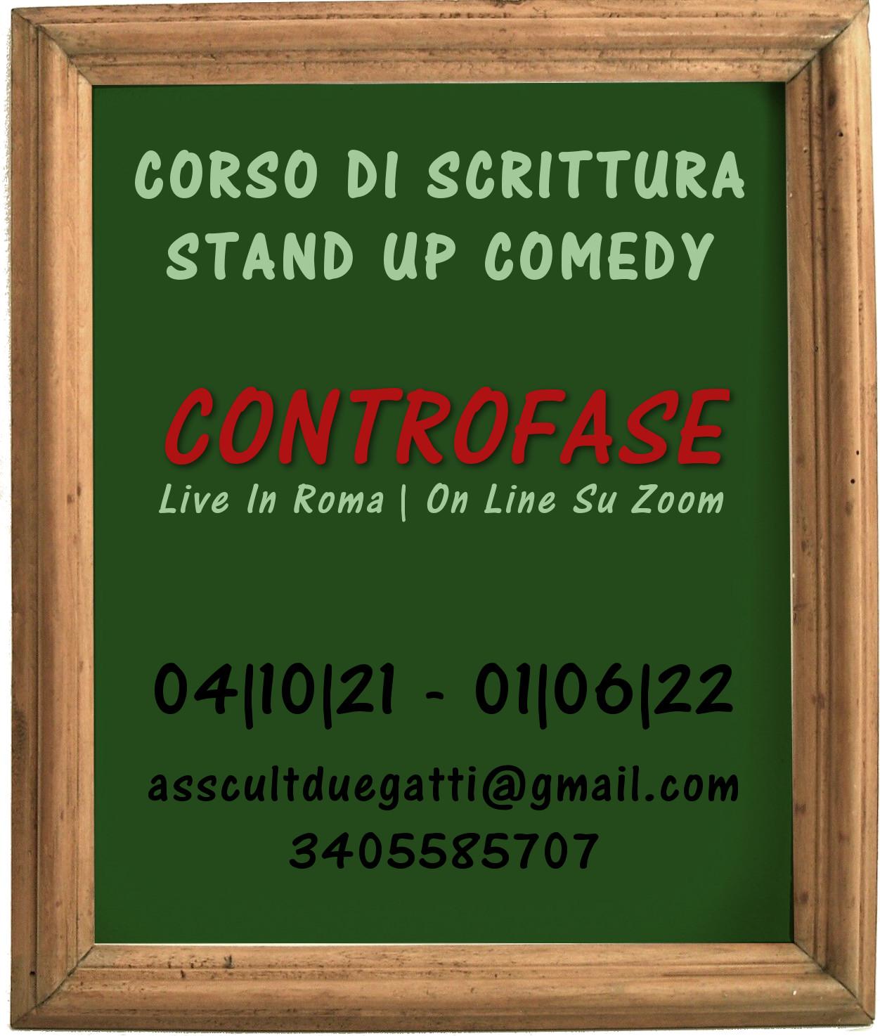 Corso Di Scrittura e stand up comedy on line